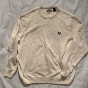 Chaps Size XXL Ivory Pullover Cotton Length 31""
